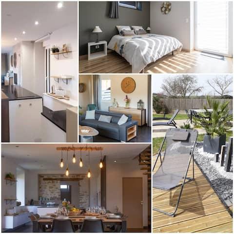 Logement tout confort 1/2 pers 1 chambre 100 m²