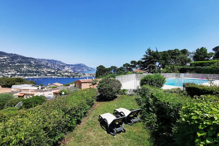 Capucines: mini villa, pool, tennis, parking.
