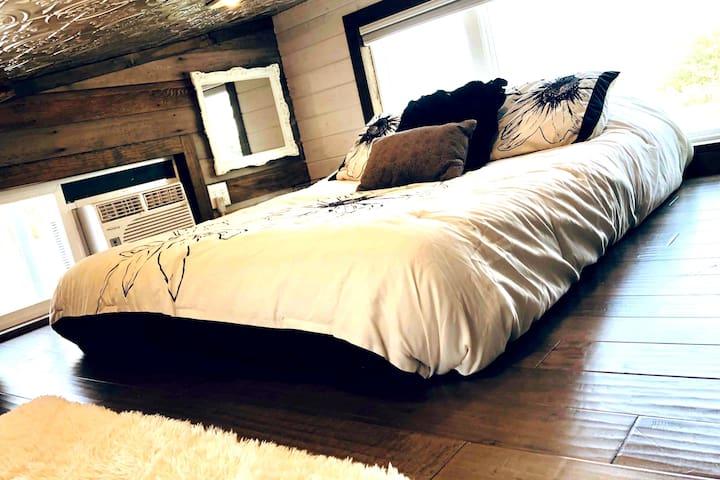 Full-sized bed in Loft/Bedroom #1