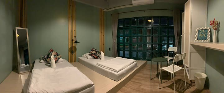 Busket Hostel:Private Twin Bed Room