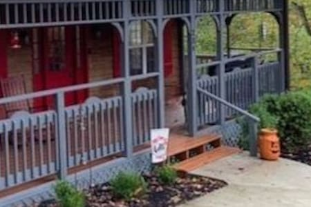 One step entrance with locking gate and wrap around 36 inch width deck