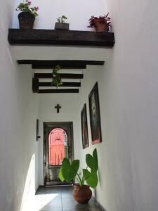 Cuenta con lámparas para iluminar el pasillo que da acceso a la casa