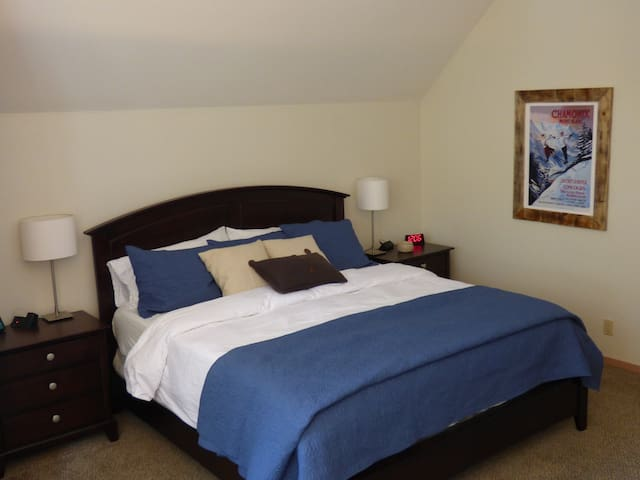 King size bed in first master suite