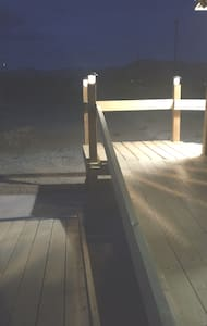 the path and ramp are both well lit for your safety.