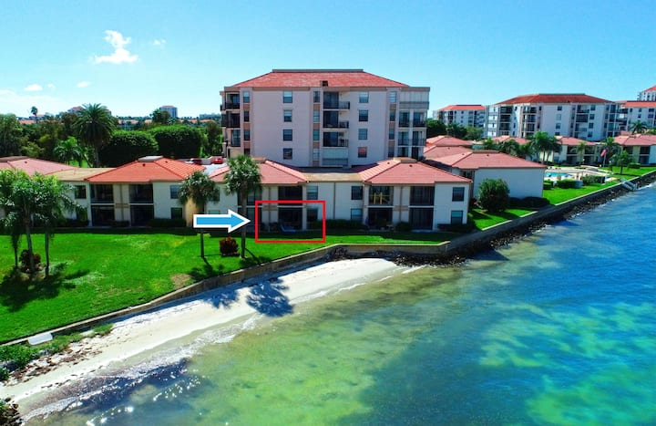 Waterfront Condo with Private Beach Ground Floor
