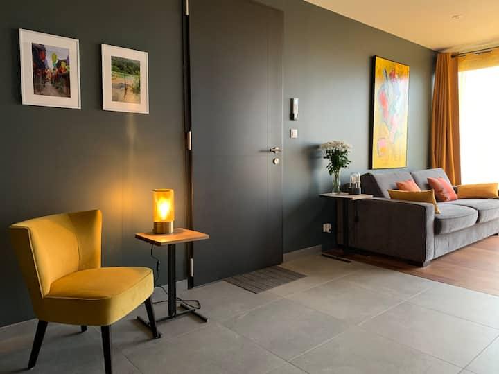 Très beau studio au calme, terrasse, vue, cuisine