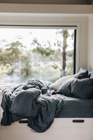 Lazy sleep ins... or early starts with freshly brewed coffee, to make the most of a day of exploring the natural surrounds.