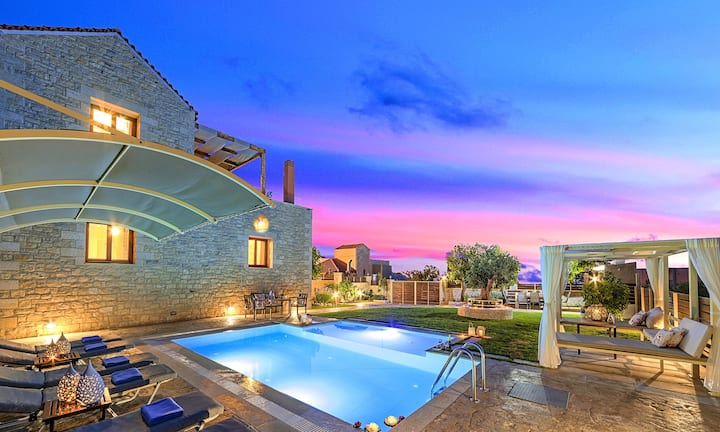 Cretan Sunrise Villa Heated Pool