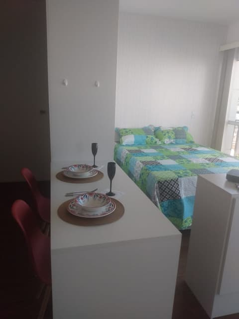 Studio with balcony and wide view in Santana - SP