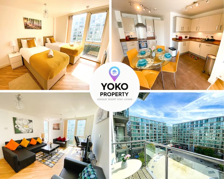🌟Luxury 2 bed HUB Apartment with Balcony🌟