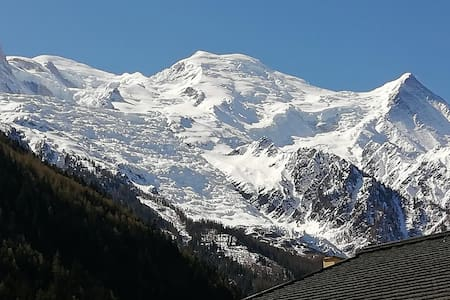 Flat+ balcony view Mt Blanc+Parking,center of Cham