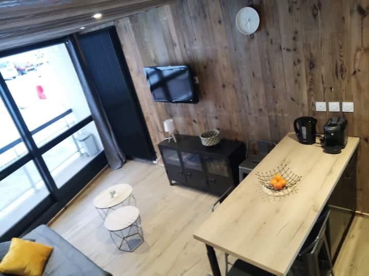Studio cosy esprit chalet pied des pistes Villard