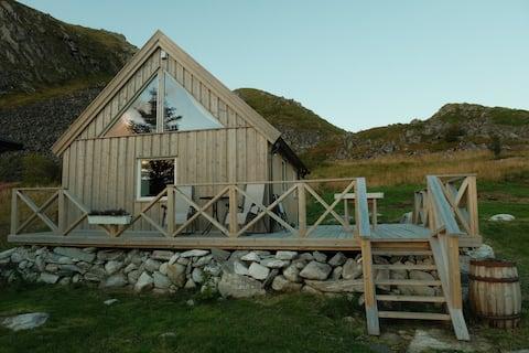 로포텐, 베뢰이 (Værøy) 에 위치한 현대적인 전원주택에서 멋진 전망을 감상해보세요!