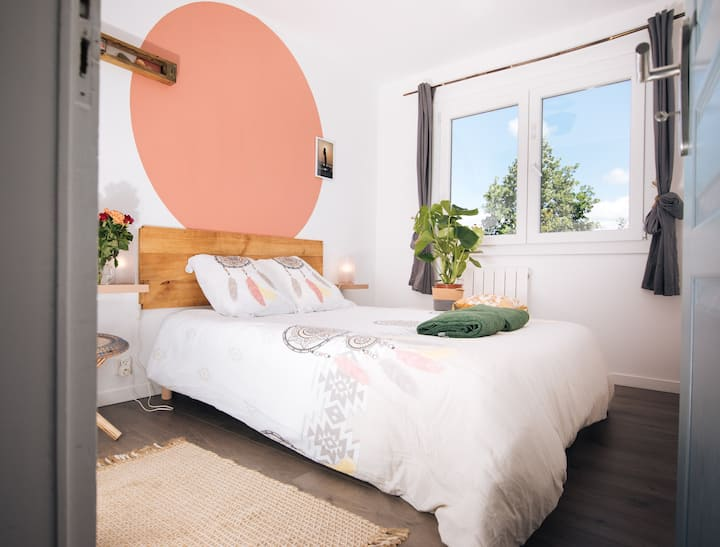 Alma Libre Surf House chambre double sdb partagée