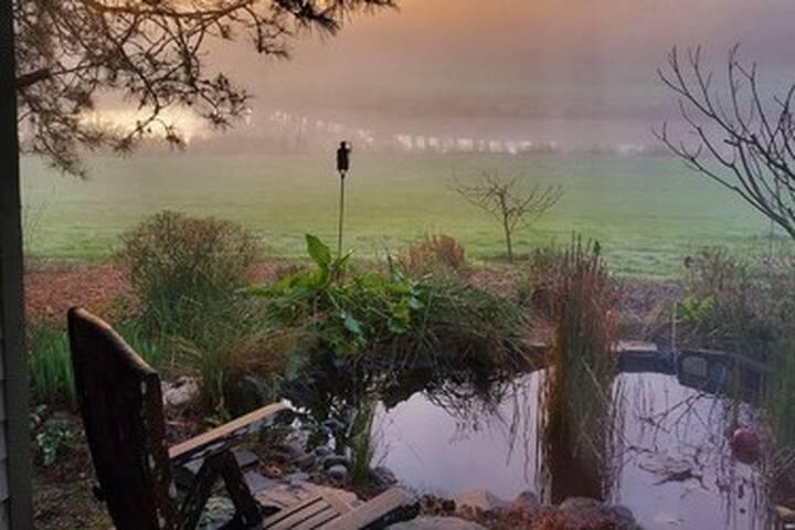 Pondside Cottage nestled in Wine Country