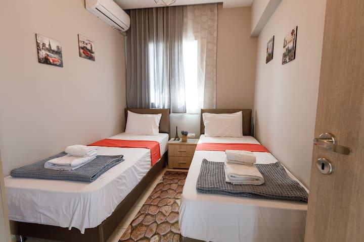 High 29 inch anatomical mattresses at second bedroom of villa joanna 1. Also an aircodition .
