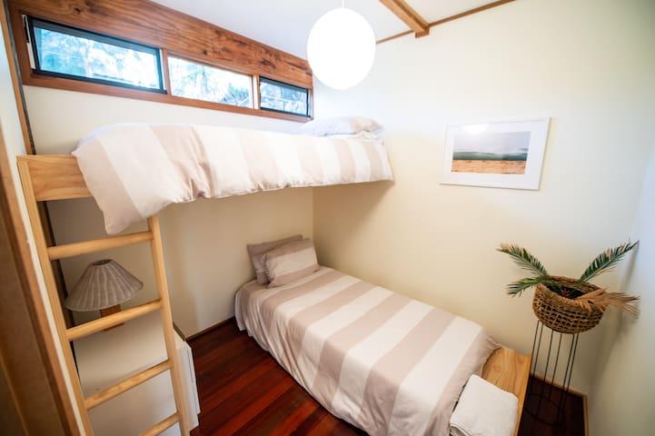 Bedroom three. Custom bunk beds.