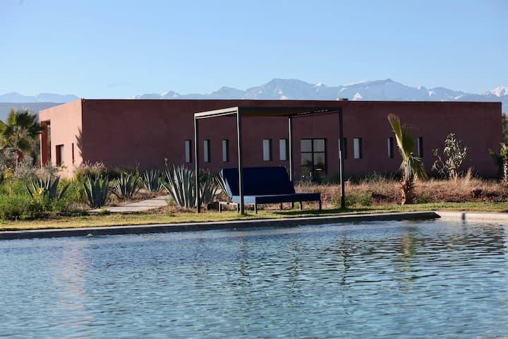 Dar Lemon, Villa moderne, piscine, vue sur l'Atlas