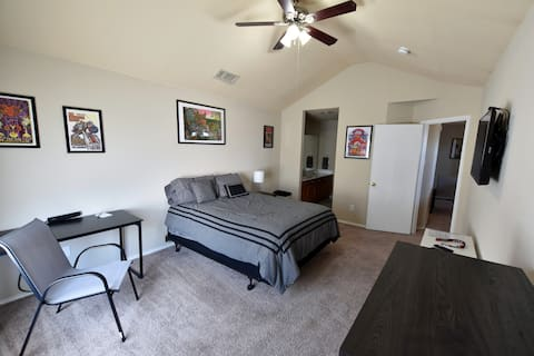 Spacious upstairs Master Suite with Private Bath