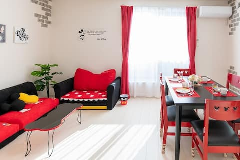 Tsukiasa/7-minute drive to Disneyland/Female & Family only/A home in a quiet residential neighborhood