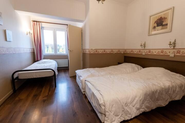 chambre 2  (2 lits 80 cm) + salle de bouche, lavabo et toilette