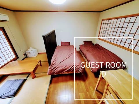 【D室】テレワークや移住体験などに最適。白馬村へも45分!北アルプス連山が見える広々洋風個室