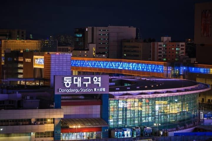 SA#1 경북대 동문 5분, 영진전문대 5분, 동대구역, 대구공항 근처 숙소