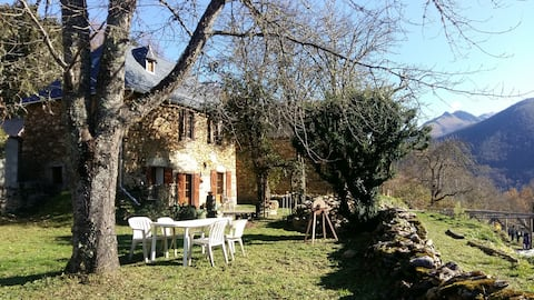 Maison montagne en pierre avec wifi, jardin & vues