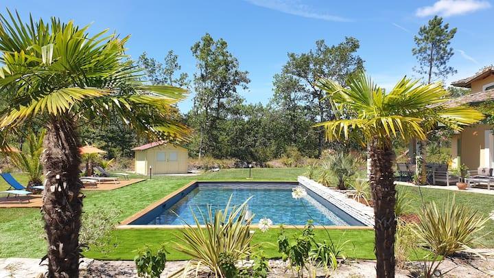 La Villa Estella Chambre Azur, piscine chauffée