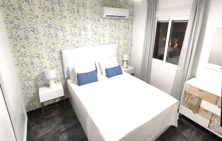 Bedroom with Views to the Beach (with TV & Wardroves)