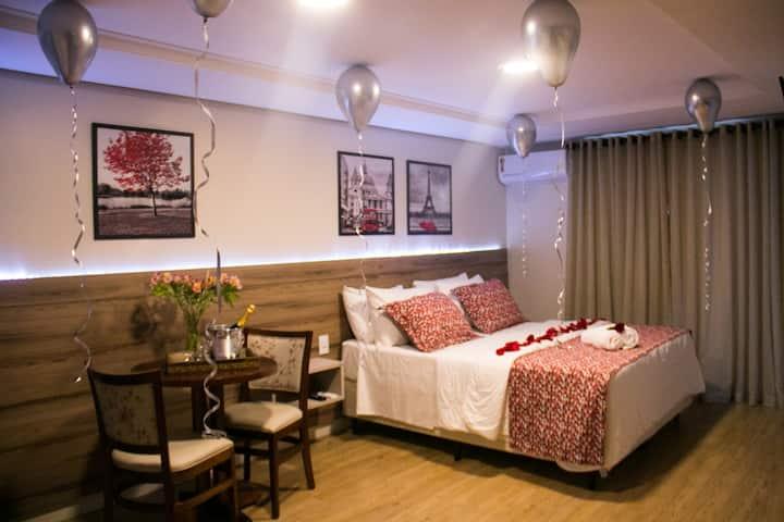 Apartamento decorado Pacote romantico Hotel Ferraz