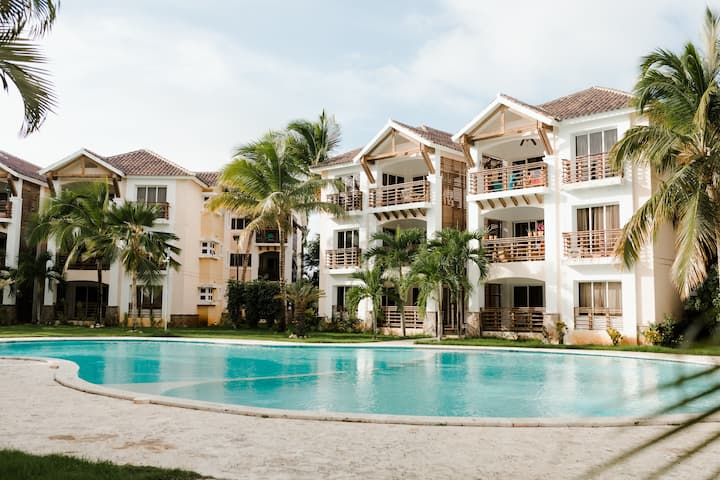 Punta Cana 2 Bedr. up to 6 guests 1 mile to Beach