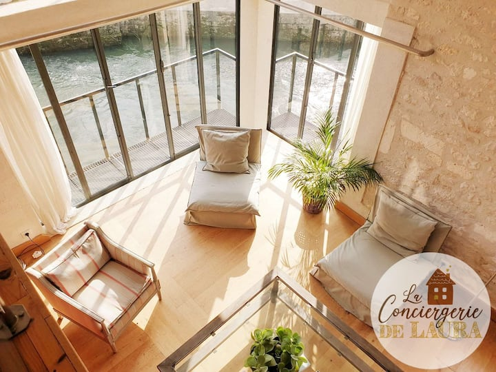 4 * loft in old restored water mill!