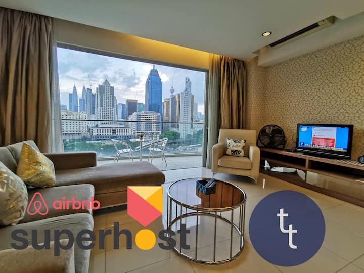 【Sanitized】✦KLCC View✦ King 2 bedrooms Apartment✦