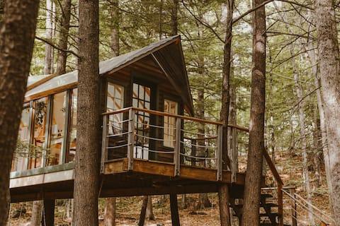 新罕布夏州海姆洛克隱藏樹屋