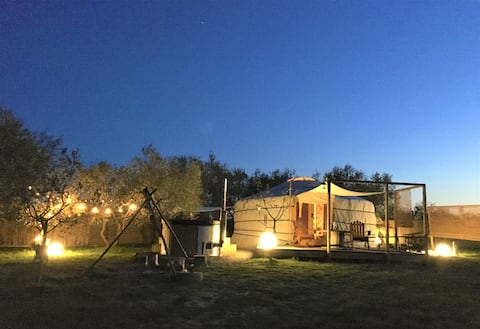 2 ❤️ and 1 Yurta Glamping in Tuscany adults only
