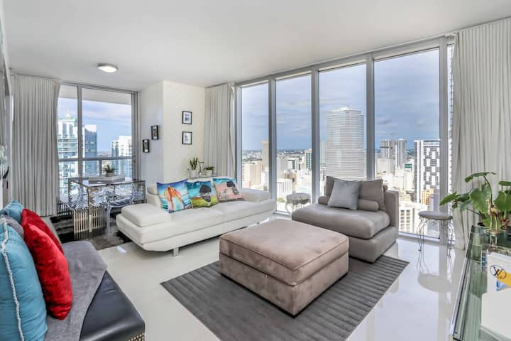 BEAUTIFUL Waterfront 2BD ★39th Floor★Icon BRICKELL