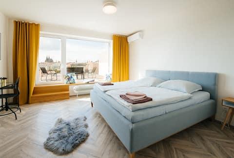 Apartamento estudio Brno-center con terraza