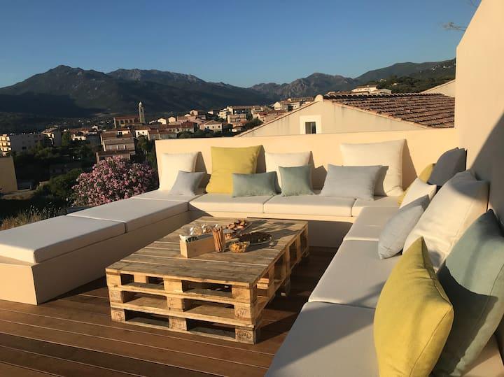 Propriano - Villa Détente avec Vue Mer Panoramique