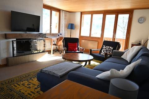 Heimelige Chalet-Wohnung mit Alpenpanorama