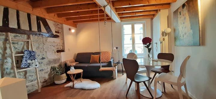 La Clé de Honfleur - Maison Balançoire - Parking