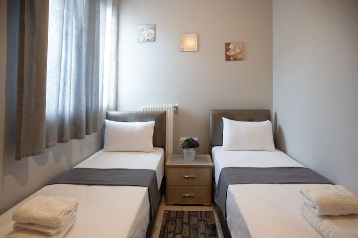 Fourth bedroom. Beds can be one  big double bed.Suitable for two kids or a couple.