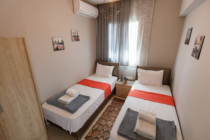 Second bedroom. Beds can be one big double bed for a couple. Suitable for two abults or a couple.