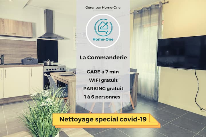 La commanderie,TERRASSE,JARDIN,parking GRATUIT