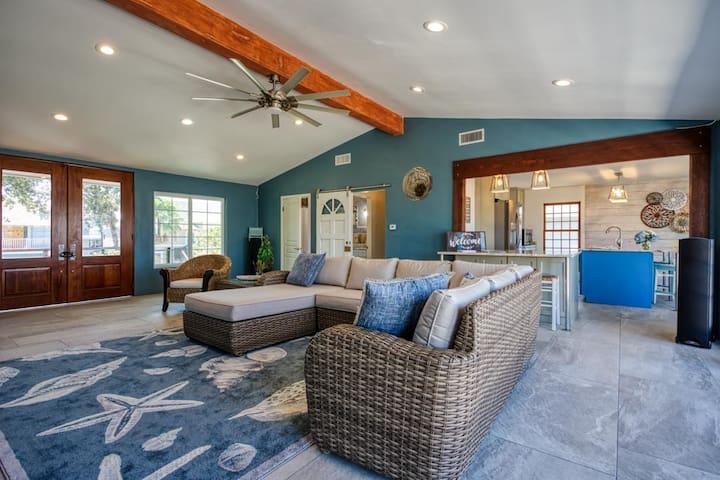 Huge open floor plan kitchen and living area