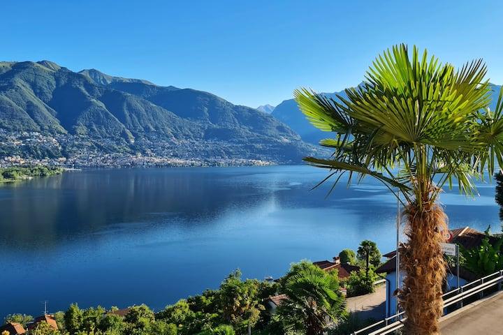 3-Zi. Terrassenwohnung mit Sicht auf Lago Maggiore