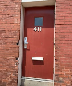 This is the entrance to all lofts. This is the a common space building entrance.