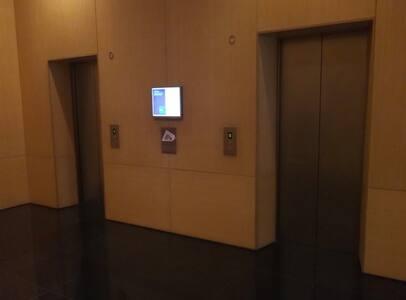 Entrance through lift