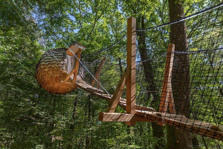 Cabane dans les arbres Lov'Nid l'Arbre à Cabane
