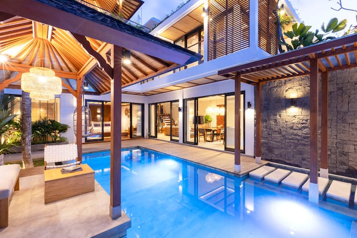 Tropical Luxury Bali Villa In Canggu 3min To Beach